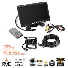 "4Pin Car Parking Reversing Camera + 7"" LCD Rear View Monitor Kit Truck Bus Van"
