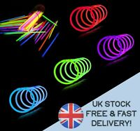 20x GLOW STICKS quality BRACELET Neon NECKLACE Birthday Rave PARTY IN DARK x-mas