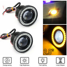2.5 Inch Car COB LED Fog Light Projector Yellow Angel Eyes Halo Ring DRL Lamp