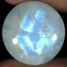 Inusual 12mm redondas de Cabujón-Corte Gema Natural de la India Arco Iris