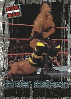 Chris Benoit vs The Rock 2001 Fleer WWF Raw is War Card #100 SE WWE Show Enders
