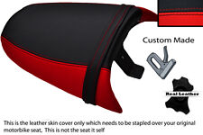 RED & BLACK CUSTOM FITS TRIUMPH SPEED TRIPLE 97-01 955 i REAR LEATHER SEAT COVER