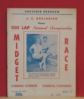 Gardena Stadium 100 Lap National Championship Midget Race Program-Oct.29,1955