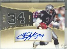 BO JACKSON 2005 EXQUISITE SIGNATURE NUMBERS 26/34