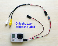 Gopro Hero3 USB to AV Video Output RCA Combo Cable& 5V DC Power Supply Cable FPV