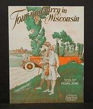 Wisconsin Sheet Music Tour and Tarry in Wisconsin Spring Green Golf 1930 C1#89