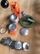 Button-Maschine Buttonpresse 55mm Zubehör Kreisschneider ProfiQualität Rechnung