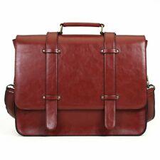 Ecosusi faux leather women's messenger laptop bag BNWT brown rrp £45 buy £30