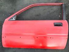 84-87 Civic 3Dr 1.5L Left Driver Side Vehicle Door Panel Car Entrance Lid Red