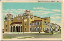 Municipal Building in Sweetwater TX Postcard
