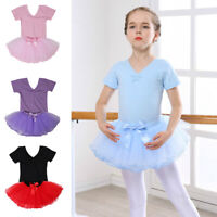 Girls Toddlers' Tutu Ballet Leotard Dancing Skirt Short Sleeve Dancewear