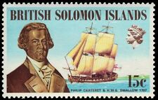 "SOLOMON ISLANDS 230 (SG217) - Philip Carteret and ""H.M.S. Swallow"" (pa82822)"