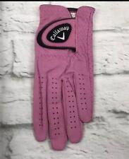 Callaway 2019 Golf Opticolor Glove Women's Left Pink Large Adjustable