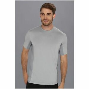 Under Armour Heatgear Station Fitted Running CrewT-Shirt 1240699 Gray/White M-XL