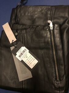 Debenhams Selected! Olivia Black Leather Skirt. Size 10 - New with Tags. £125.00
