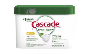Cascade ActionPacs Free & Clear Lemon Essence Dishwasher Detergent (37 Count)