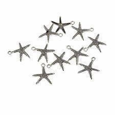 10pcs Starfish Star Beads Tibetan Silver Charms Pendant Fit DIY Bracelet 20*17mm