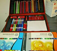 Faber-Castell Young Artist Essentials Gift Set + Acrylic & Watercolor Paint Sets