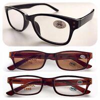 Classic Superb Wayfarer Reading Glasses or UV400 Sun Readers/Retro Unisex Specs