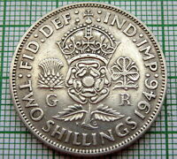 GREAT BRITAIN GEORGE VI 1946 2 SHILLINGS - FLORIN, SILVER