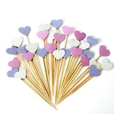 40 heart TOPPERS CUPCAKES BAKING DECORATIONS PARTY CAKE BAKING BIRTHDAY girl