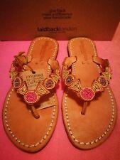 Brand New Laidback London Sandalias Mujer Chanclas De Dedo Zapatos 37 Cuero