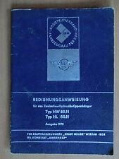 Original Betriebsanleitung DDR IFA Kipp-Anhänger HW HL 80.11 Werdau Ausgabe 1972