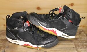 Air Jordan Sixty Plus 60 Plus Black Varsity Red 364806-061 Mens Size 7.5