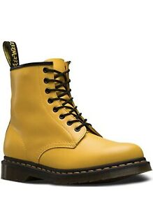 NWT Dr. Martens 1460 Womens sz 8 1/2 Lace Up Boot Yellow Smooth Brand Mens sz 7