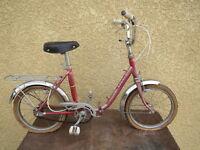 Ancien VÉLO pliant Vintage Enfant 1960 Marque France vieux cycle jante rigida