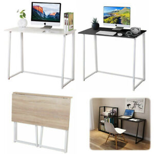 Folding Computer Desk Small Simple Design PC Laptop Table Home Furniture Wooden