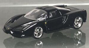MINT LOOSE 2008 Hot Wheels 1:87 RARE black Enzo Ferrari REAL RIDERS