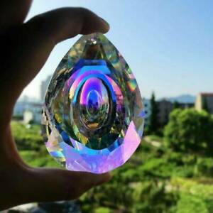 Natürliche Regenbogen Kristall Kronleuchter Lampe hängen Anhänger Wohnkultur DE