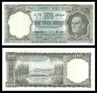 TURKEY / ATATURK *** 100 LIRA 1964 aUNC Z 50 RARE !