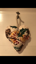 *EMMA BRIDGEWATER * FABRIC HEART HOLLY WREATH CHRISTMAS FABRIC DECORATION XMAS