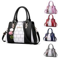 Women's PU Leather Bag Purse Shoulder Handbags Tote Messenger Satchel Cross Body