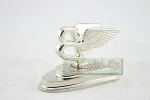 1:1 Scale BENTLEY hood Car Logo Alloy Ornament Metal Model