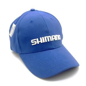 Shimano Basecap Royal Blue Baumwolle besticktes LOGO Einheitsgröße Cap Blau NEW