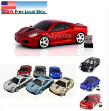 Xmas Gift Cordless 2.4Ghz Wireless Optical Car Mouse PC Laptop Mice +USB Dongle