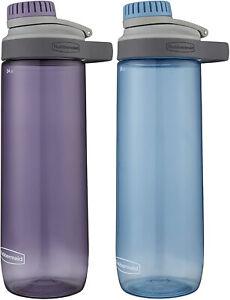 Rubbermaid Leak-Proof Chug Water Bottle, 24 oz  Purple or Blue
