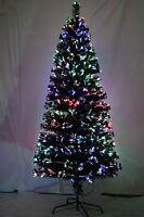 Fibre Optic 90cm Christmas Xmas Tree Lights Pre Lit Multi Colour Decoration 3Ft