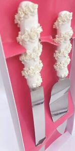 Wedding Elegant Cake Knife Server Set Stainless Steel Quinceanera Cake Knives