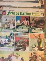 Lot of 3 Full Page 1941 Prince Valiant Comic Strips Newspaper Original