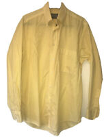 Vintage Versace V2 - Size Large Yellow Checked Mens Shirt Casual Summer 38 40