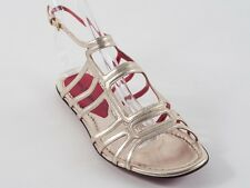 New  Cesare Paciotti Gold Leather Sandals Size 40  US 10