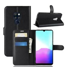 Black Luxury Slim Leather Book Prism Series Wallet Case Fits Huawei Mate 20 Lite
