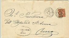 436-LOMBARDIA, TIMBRO DEL COMUNE DI MESE, CHIAVENNA,GRANDE CERCHIO PER COMO,1893