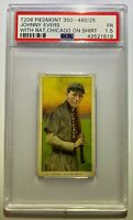JOHNNY EVERS T206 PIEDMONT CARD PSA GRADED 1.5 CHICAGO CUBS BAT ON SHOULDER HOF