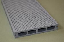 Wood Plastic Composite Decking in Light Grey 150mm x 25mm x 2.90m Slip Resistant