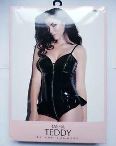 Ann Summers Tasha Teddy Black M 12-14 Sexy Lingerie Erotic Role Play New